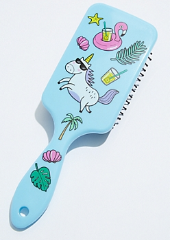 Blue Pool Party Unicorn Hairbrush