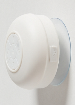 White Waterproof Bluetooth Shower Speaker