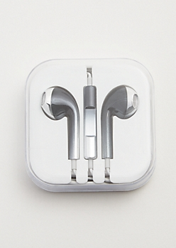 Black Ombre Metallic Universal Earbuds