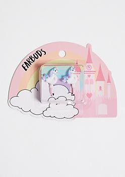 Pink Unicorn Earbuds