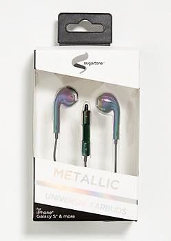 Metallic Iridescent Universal Earbuds