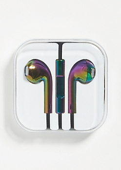 Rainbow Metallic Earbuds