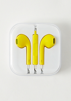 Yellow Matte Universal Earbuds