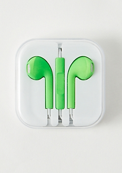 Green Matte Universal Earbuds