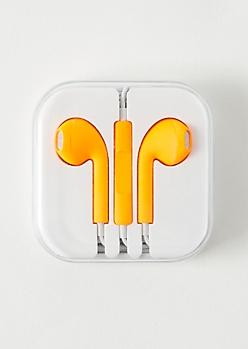 Neon Orange Matte Universal Earbuds