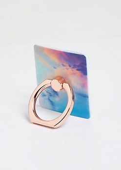 Rainbow Sky Print Phone Ring Kick Stand