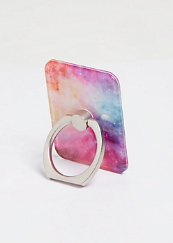 Rainbow Galaxy Print Phone Ring Kick Stand