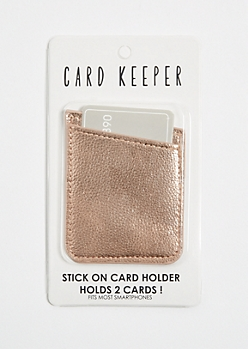 Rose Gold Metallic Card Keeper