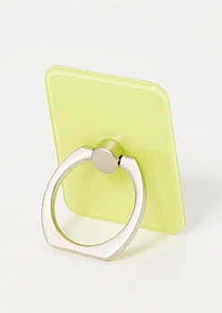 Neon Yellow Phone Ring Kick Stand