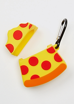 Pizza Silicone Wireless Earbud Travel Case Cover
