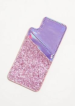 Pink Glitter Smartphone Wallet