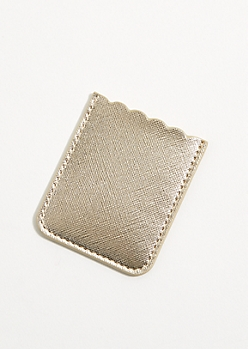 Golden Scalloped Edge Smartphone Wallet