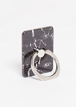 Black Marble Ring Holder Kickstand