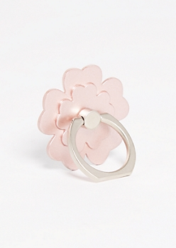 Rose Gold Flower Ring Holder Kickstand