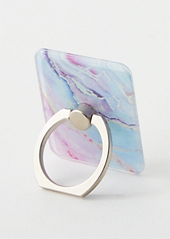 Marble Print Phone Ring Kick Stand