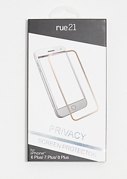 Rose Gold Edge Privacy Screen Protector for iPhone 6 Plus/7 Plus/8 Plus