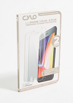 2-Pack Tempered Screen Protector Set for iPhone 7/8 Plus