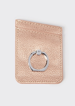 Rose Gold Ring Phone Wallet