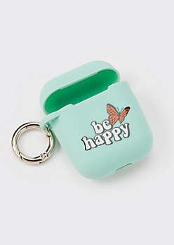 Mint Be Happy Wireless Earbud Travel Case Cover