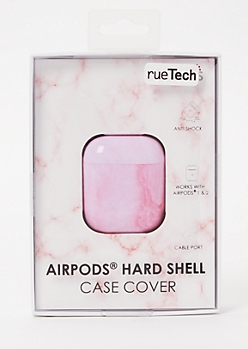 Pink Marble Wireless Earbuds Case