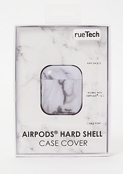 White Marble Wireless Earbuds Case