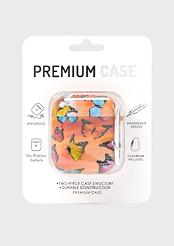 Butterfly Print Wireless Earbud Case