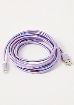 10-Foot Metallic Lavender Lightning to USB Cable