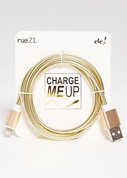 Gold iPhone USB Cord