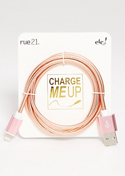 Rose Gold iPhone USB Cord