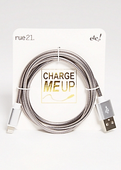 Silver iPhone USB Cord