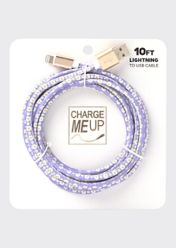 10-Foot Daisy Print Lightning To USB Cable
