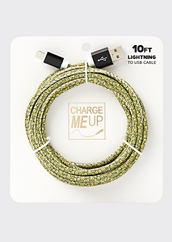 10-Foot Smiley Print Lightning To USB Cable