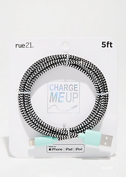 Metallic Black Cold USB Charging Cable