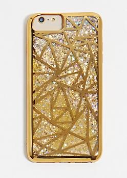 Geo Glitter Phone Case for iPhone 6/7/8 Plus