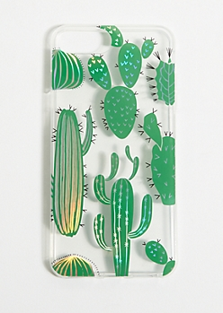 Clear Cactus Cell Phone Case for iPhone 6/7/8 Plus