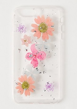 Clear Pressed Flower Phone Case For iPhone 6/7/8 Plus