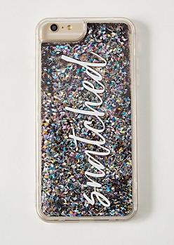 Silver Floating Glitter Snatched Clear Phone Case For iPhone 6/7/8 Plus