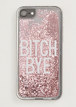 Pink Bye Floating Glitter Phone Case For iPhone 6/6s/7/8