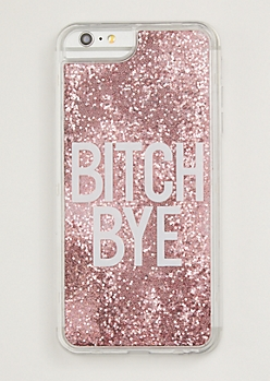 Pink Bye Floating Glitter Phone Case For iPhone 6/7/8 Plus