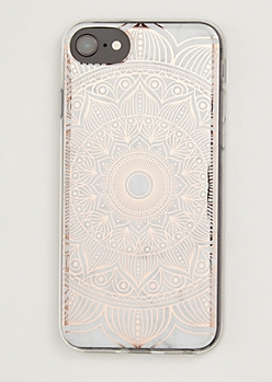 Rose Gold Metallic Medallion Phone Case For iPhone 6/6s/7/8