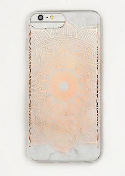 Rose Gold Metallic Medallion Phone Case For iPhone 6/7/8 Plus