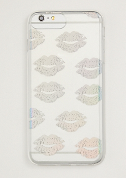 Holographic Kiss Print Phone Case For iPhone 6/7/8 Plus