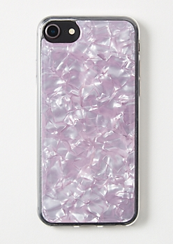 Purple Opal Resin iPhone Case For 6/6s/7/8