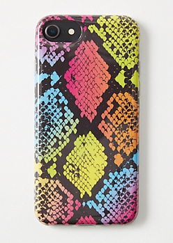 Rainbow Snakeskin Print iPhone Case For 6/6s/7/8