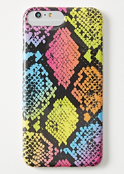 Rainbow Snakeskin Print iPhone Case For 6/7/8 Plus