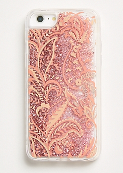 Paisley Floating Glitter Phone Case For iPhone 6/6s/7/8