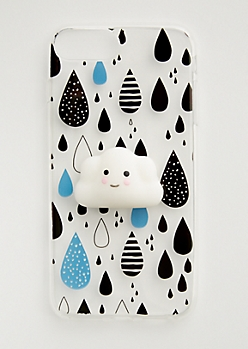Cloud Squishy & Raindrops Case for iPhone 8/7/6 Plus