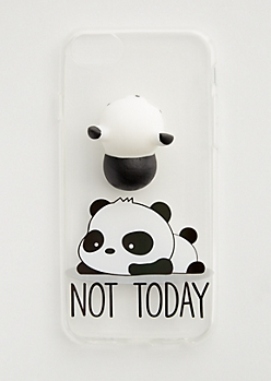 Panda Squishy & Not Today Case for iPhone 8/7/6
