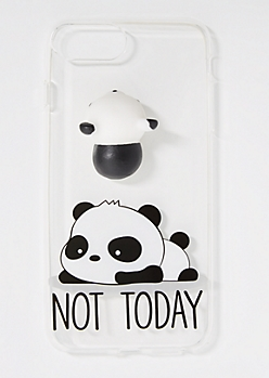 Panda Squishy & Not Today Case for iPhone 8/7/6 Plus