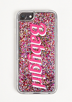 Clear Baby Girl Floating Glitter Phone Case For iPhone 6/6s/7/8